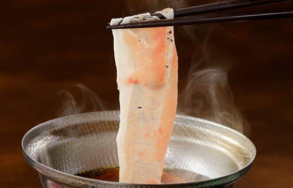 潮騒の宿ふじま:コース料理(金目鯛しゃぶしゃぶ)
