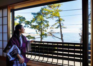 潮騒の宿ふじま:客室窓からの眺め
