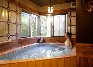 潮騒の宿ふじま:天然温泉のお風呂